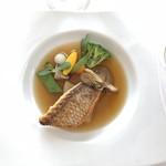 93180798 - 5周年特別記念ランチ…メイン料理(真鯛のポワレ)