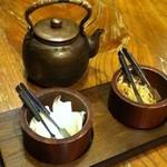かつ吉 - 漬物・お茶