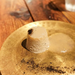 スパイスカフェ - 焼きなすのムース、生姜入りなしのスープ