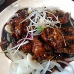 中国料理 香楽 - 一緒に炒めない玉ねぎ