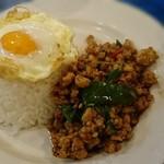 93191606 - ガパオライス(鶏ミンチ+目玉焼き)