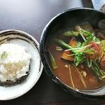 soup curry&ethnic food 浅野屋 - 自家製つくねと14種の野菜カレー