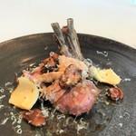 クリマ ディ トスカーナ - ニュージーランド子羊 背肉 胸腺肉 ピエドムートン ペコリーノ