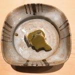 薄野 鮨金 - 蒸し鮑 肝ソース