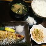 ごはん処 のぐっち - さば塩焼き定食(830円)