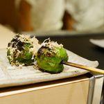 焼鳥 おみ乃 - 長野県ひしの南蛮 (ピーマンを小さくした形状の ナス科トウガラシ属の野菜)