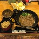 93201111 - 和牛肉定食 ¥1280  ちく玉天  ¥250