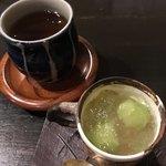 土家 - そば茶と巨峰、マスカットのゼリー