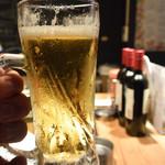 立喰い焼肉 おやびん - 生ビール♪