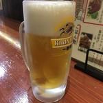 大衆酒場 串焼き本舗 - 「生ビール」390円也。