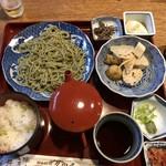 久田屋 - 茶蕎麦定食(冷)