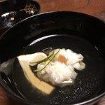 柊家 - 椀物  鱧と松茸