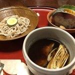 柊家 - 鯖寿司と鴨汁蕎麦セット(笑)