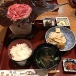 久田屋 - 飛騨牛ほうばみそ定食