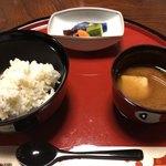 柊家 - 栗ご飯と黒豆味噌汁