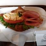 デリフランス - クロワッサンサンド(ハムエッグ&トマト)