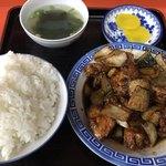 小笹飯店 - とりみそ定食600円