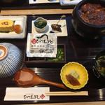 unagiwashokushirakawa - ひつまぶしセット(3,390円 税込)は絶品のひつまぶし、鰻巻き、肝吸いが味わえるお値打ちセット!
