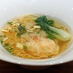 中華たかせ - 海老雲呑入り 香港細麺スープヌードル