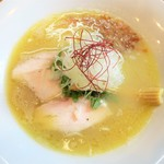 麺匠 金衛門 - 濃厚鶏蕎麦(塩)
