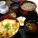 平和そば本店 - 料理写真:かつ丼セット 1,200円