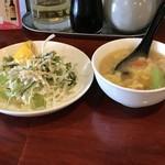 93218853 - ランチには、スープ&サラダ付き