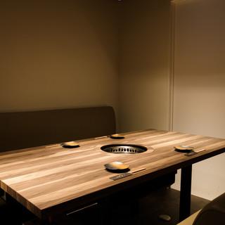 完全個室完備。接待や記念日利用も可能