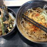 ゆで太郎 - 天丼セット 680円