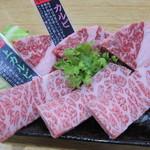 焼肉みよし - 米沢牛カルビ2種盛:1800円
