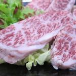焼肉みよし - 米沢牛ハラミ(限定)のアップ