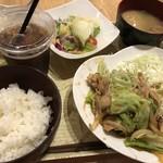 オリエンタルバル Vege - 三元豚の生姜焼き定食 1000円税込