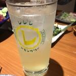 酒と飯スタンドゆうじ - 瀬戸内レモン酎ハイ(398円)は甘すぎた。。。