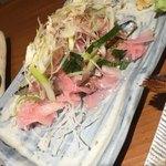 酒と飯スタンドゆうじ - ガリ好きにはたまらんガリたっぷりのせのシメ鯖♡