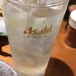酒と飯スタンドゆうじ - スッキリ飲み口の99円レモン酎ハイで十分や^ ^