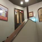 ビストロ ボナぺティ - さらに階段を。。。