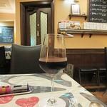 ビストロ ボナぺティ - 「グラスの赤ワイン」なぞを。オホホ。(;^_^A
