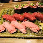 梅田東通り 肉寿司 - 肉寿司盛り合わせ