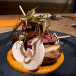 Txiki Plaka - 牛ハラミとマッシュルーム