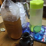 ゆくい処 石だたみ - さんぴん茶、氷
