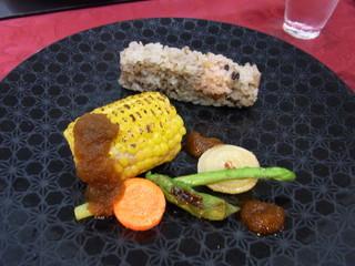 坊千代 - 玉蜀黍のハンバーグ