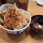 日本橋 天丼 金子半之助 - 竹(鱚)と味噌汁(1100円)