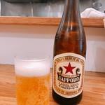麺や七彩 - ビール(中瓶) 550円