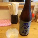 手打ちうどん こげら - 屋守(おくのかみ)の純米中取り。東村山市にある酒造(豊島屋酒造)です。