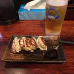 らーめん本郷亭 - 餃子とビールセット500円