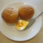レストランHIRO - オリジナルハンバーグフォワグラ添え(1300円)セットパン