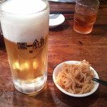 博多 一風堂 - 生ビール&もやし~