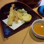 美濃吉 - 松茸としめじと海老の天ぷら