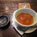 湘南の魚とワインの店 ヒラツカ - 季節野菜のポタージュ