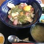 漁師カフェ 堂ヶ島食堂 - 俺の!ぶっかけ丼
