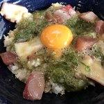漁師カフェ 堂ヶ島食堂 - ぶっかけ丼卵調整済